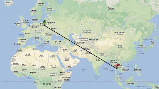 Bezpośrednie loty do tajlandii