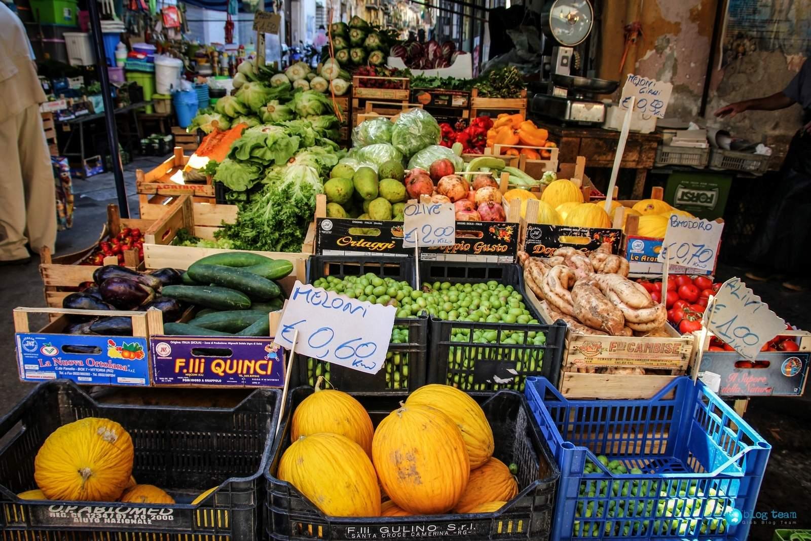 Ceny owoców i warzyw na Sycylii