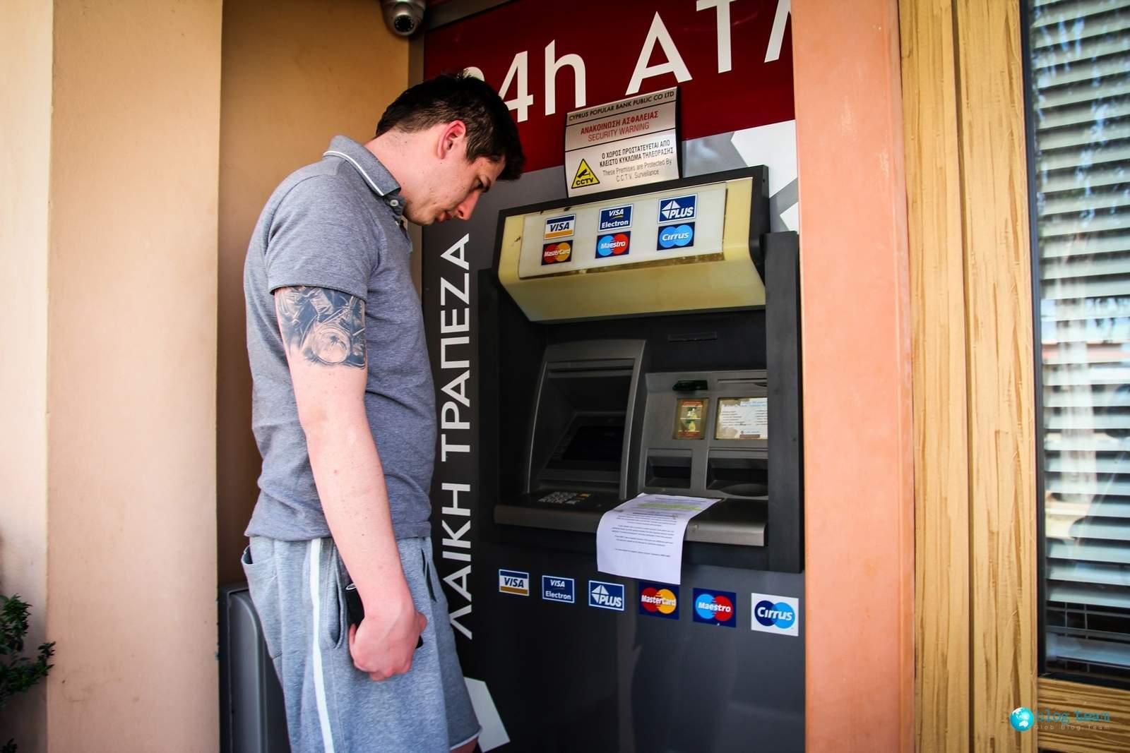Niedziałające bankomaty na Cyprze