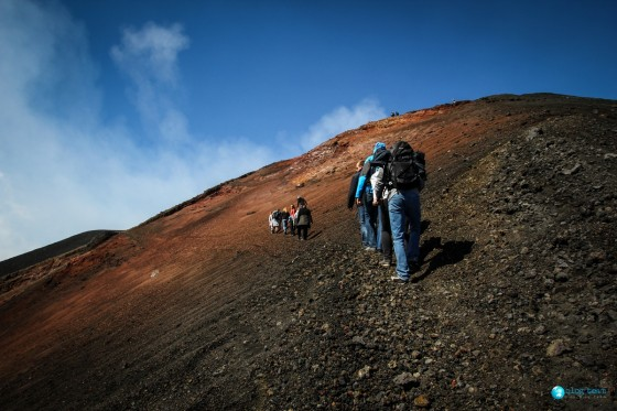 Zbocze krateru - Etna