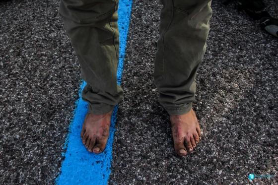 Stopy po wyjściu na Etnę