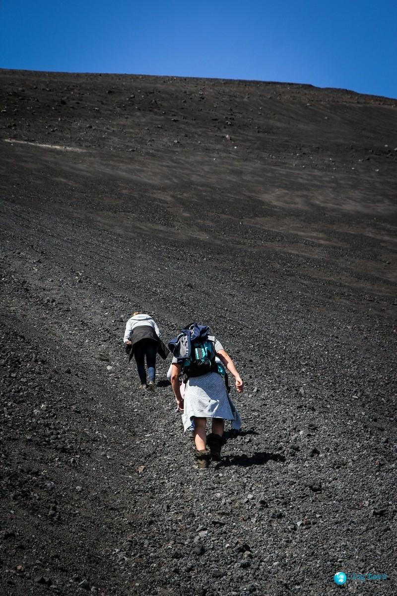 Ostre podejście na krater - Etna