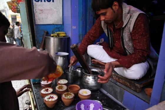 Blue Lassi Shop w Waranasi