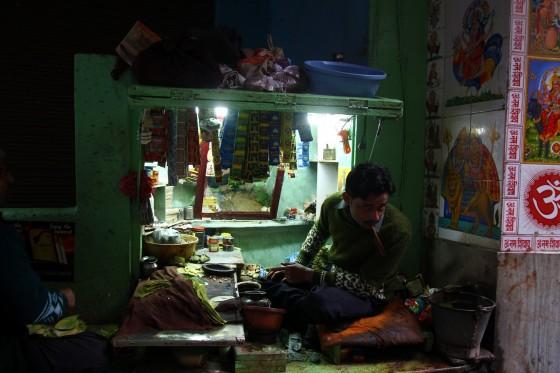 Waranasi, sprzedawca czegoś tam