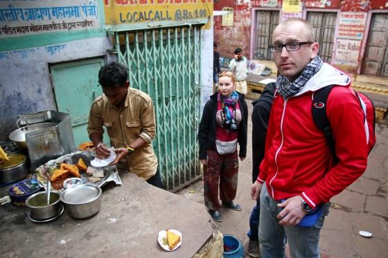 Jedzenie na ulicy w Indiach