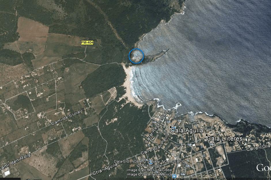 Spanie na dziko okolice Cala Agulla