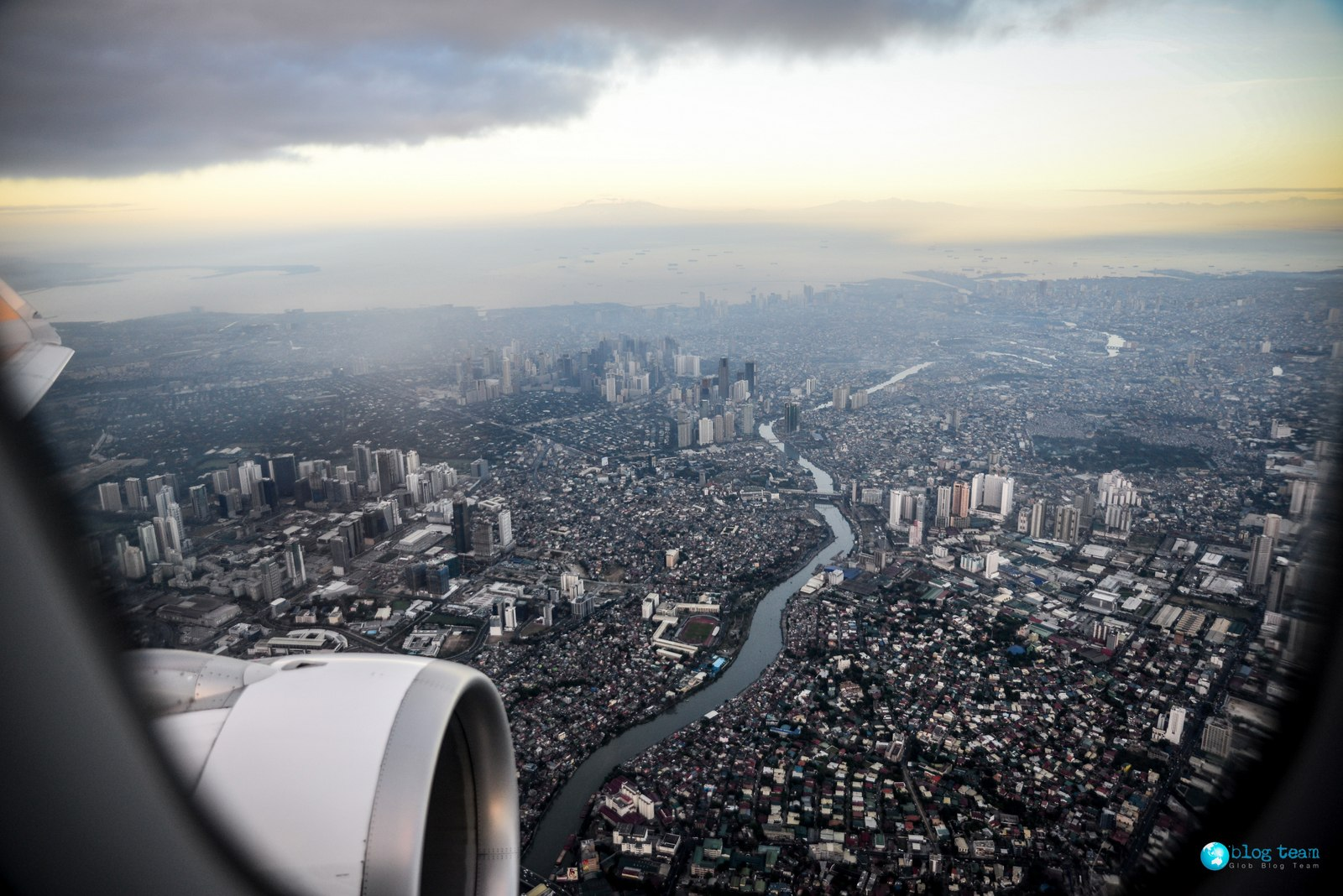 Manila Widok z lotu ptaka / Manila - bird's eye view