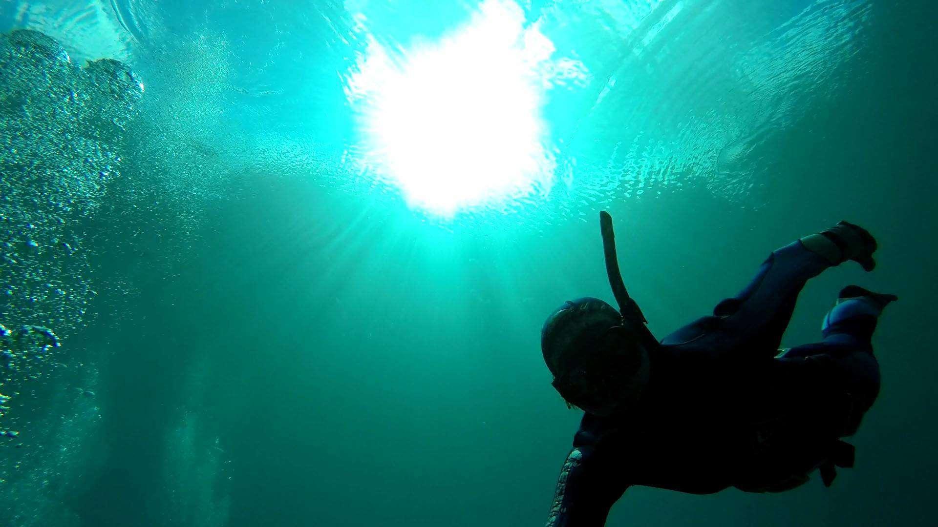 Freediver in Gruner See - Austria