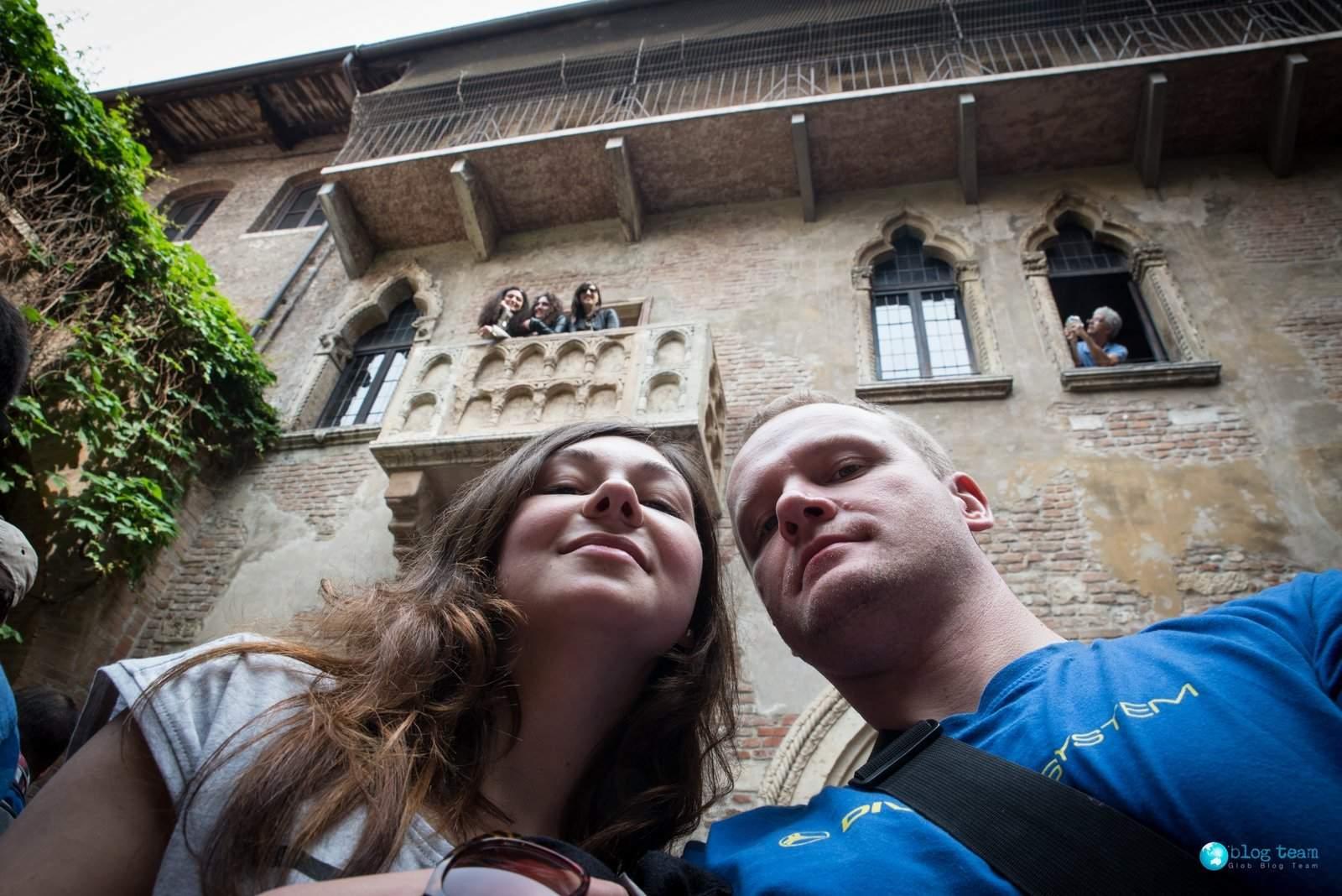 Werona - Balkon z trzema Juliami