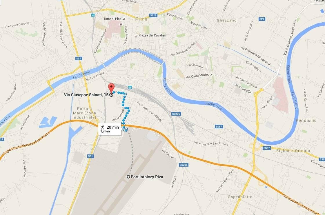 Backpackers Pisa Hostel - mapa