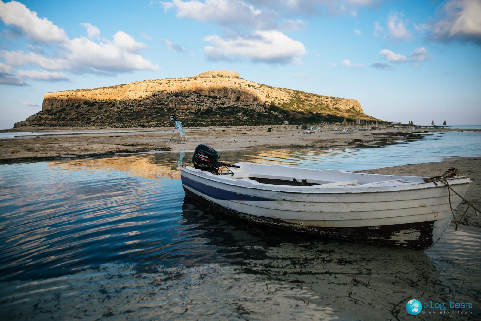 Wschód słońca na lagunie Balos