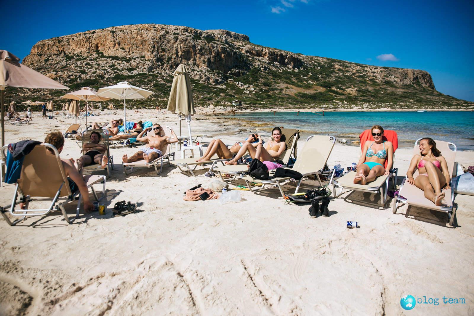 Plażowanie na Balos Beach