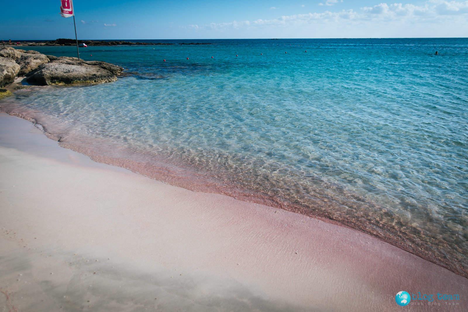 Różowy piasek na Elafonisi / Pink sand Elafonisi