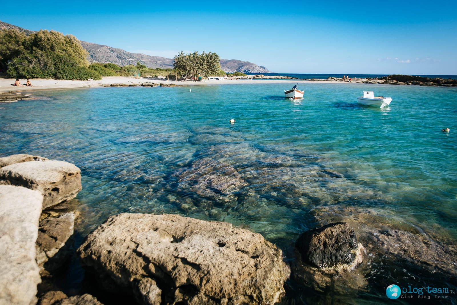 Plaża Elafonisi i błękitna woda