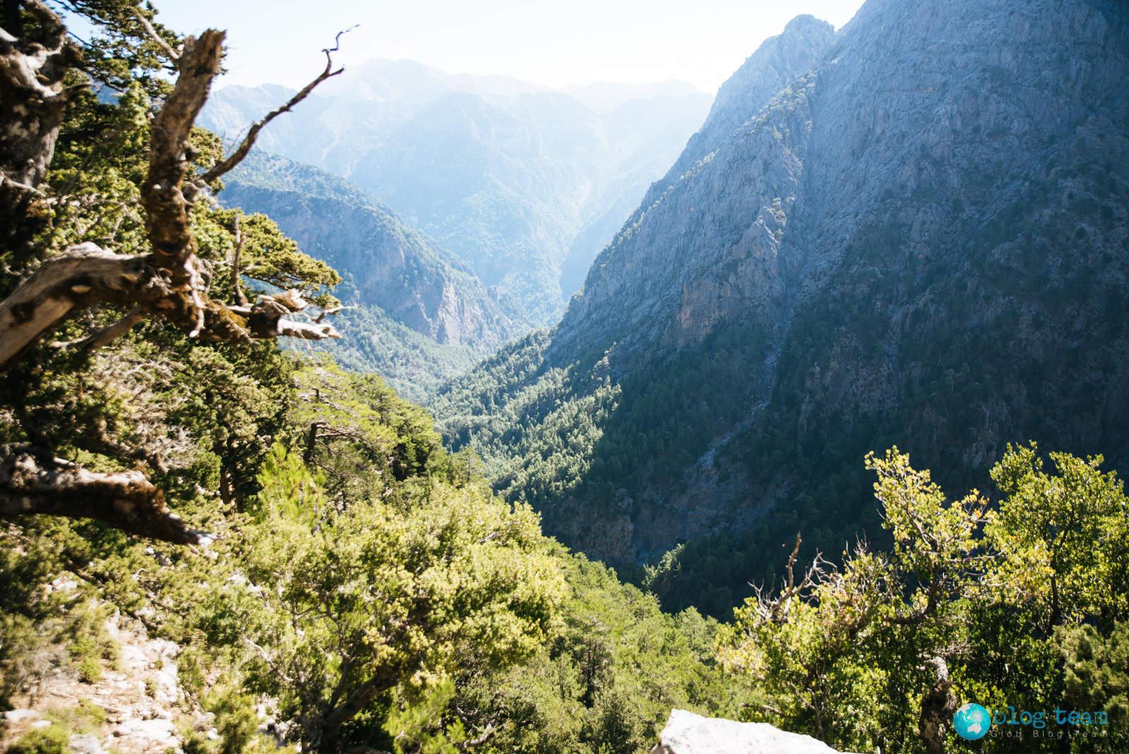 Wąwóz Samaria - początek trasy