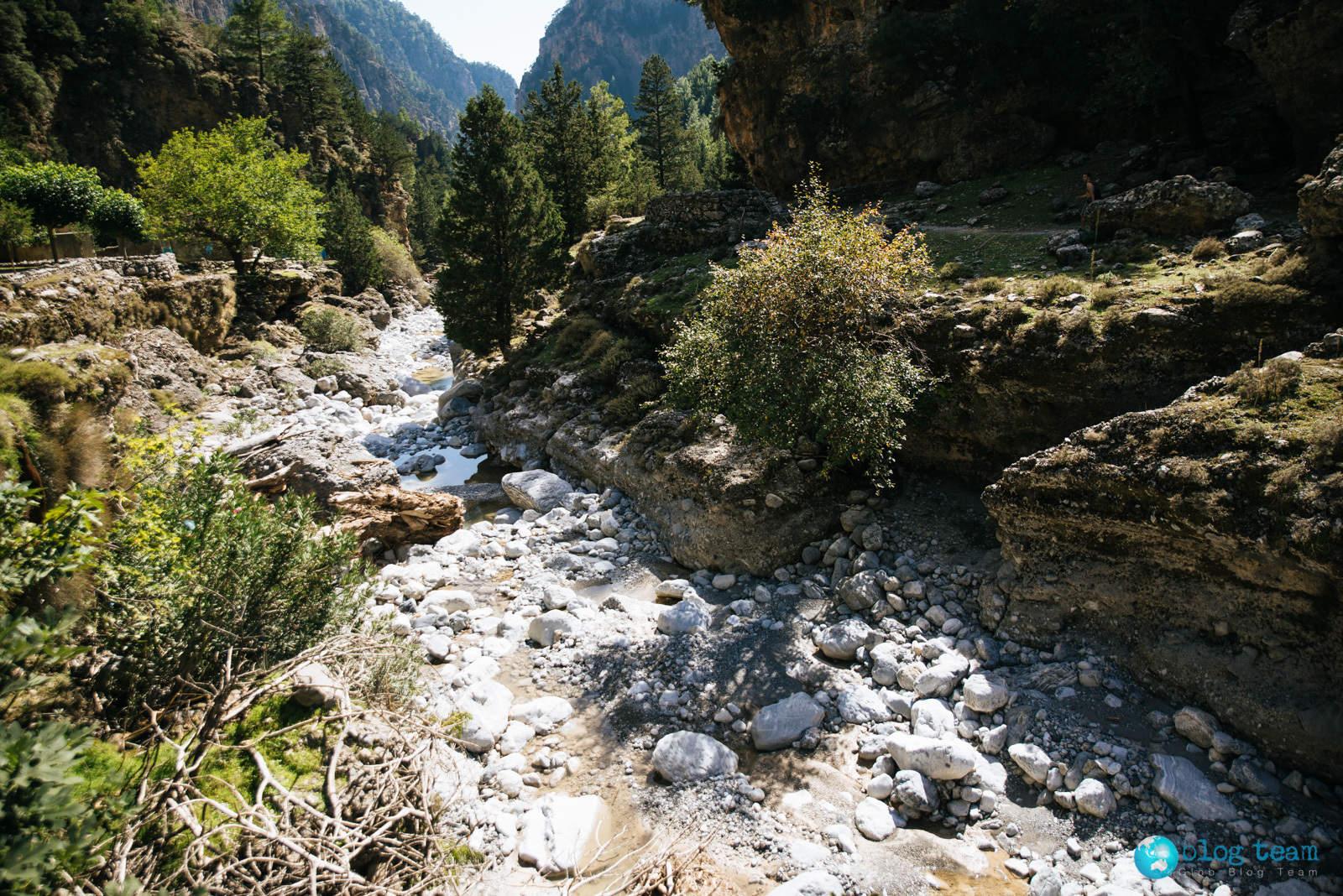 Wąwóz Samaria na Krecie - koryto rzeki
