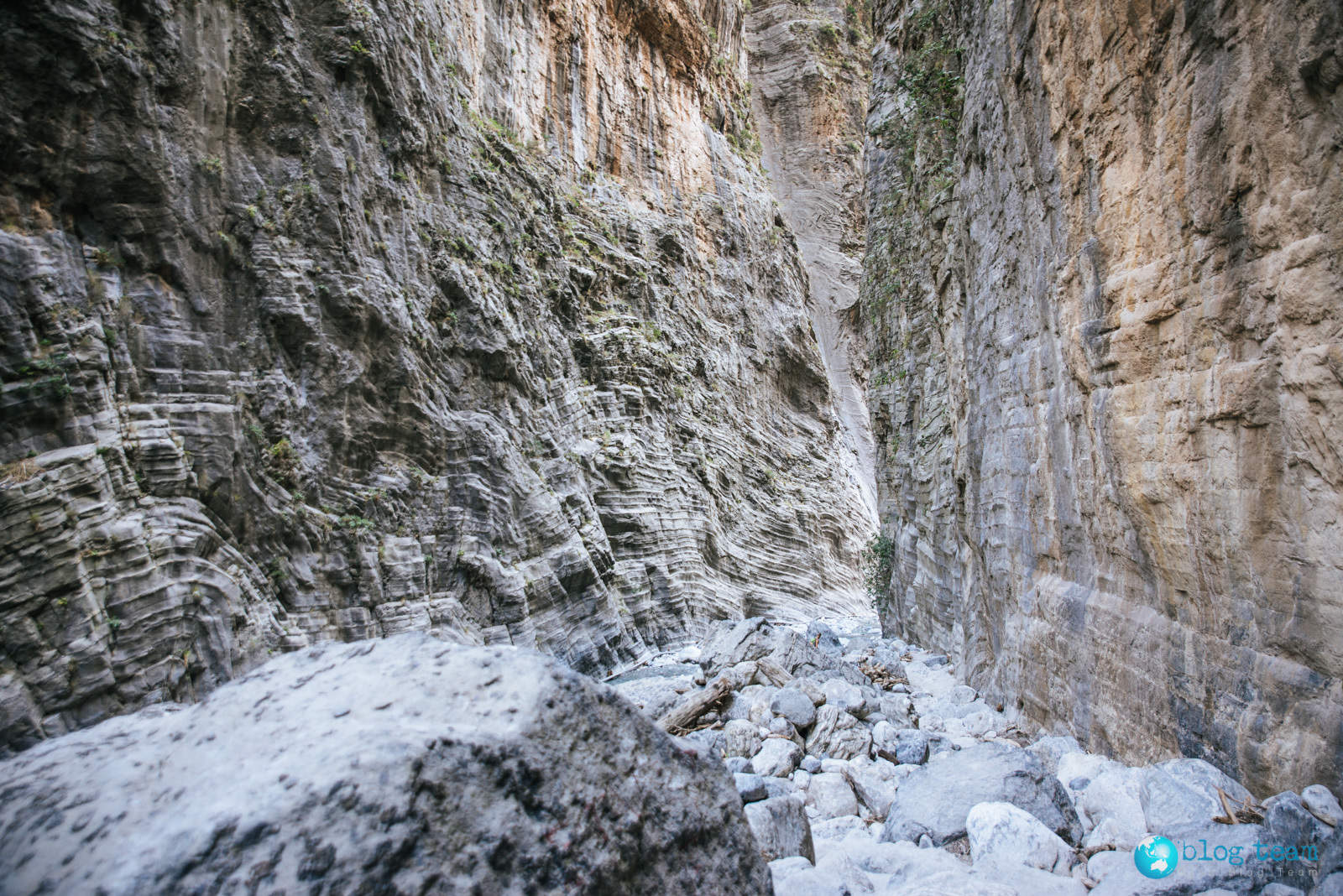 Wąwóz Samaria na Krecie - wąskie przejście