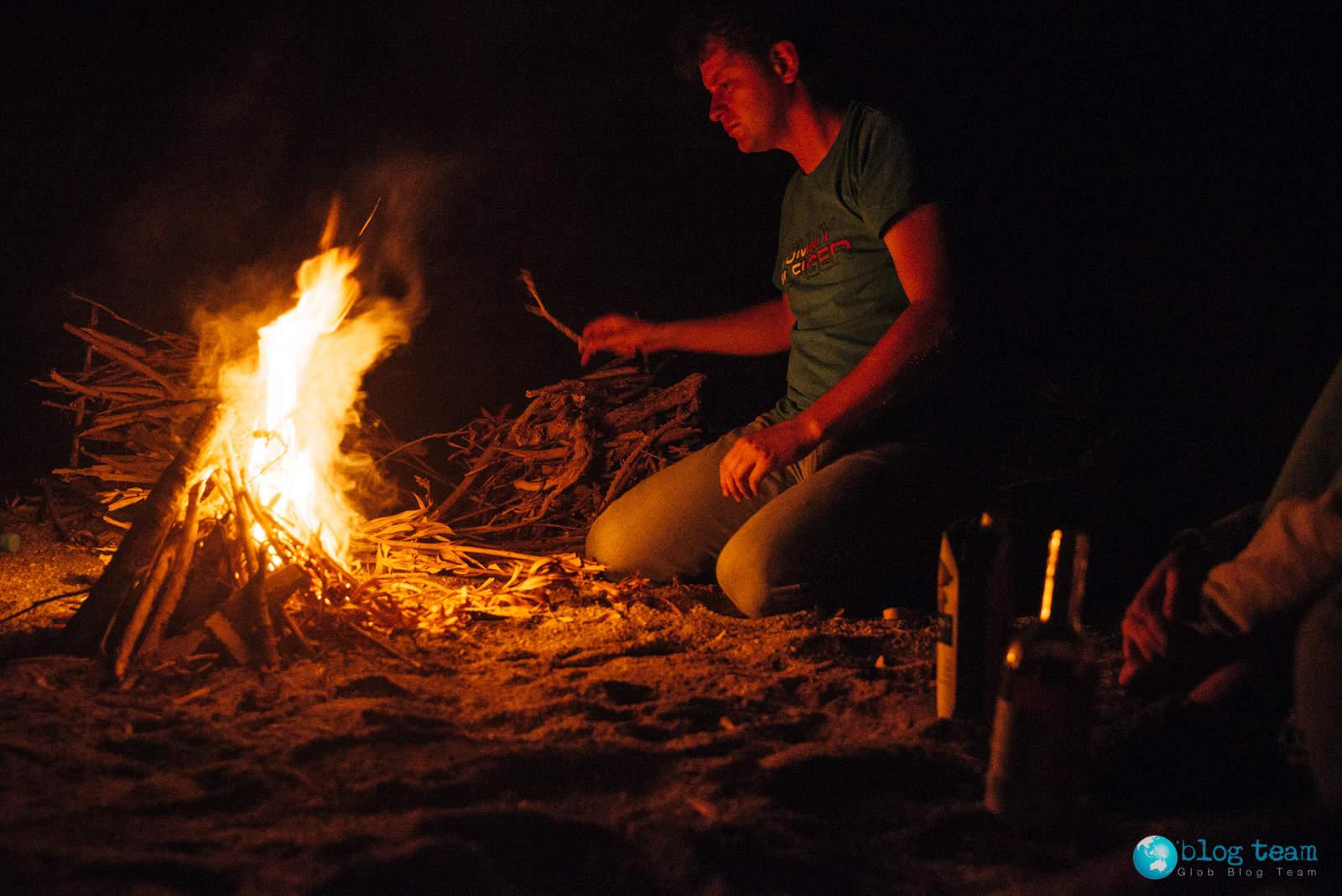 Stefanou beach - fire place