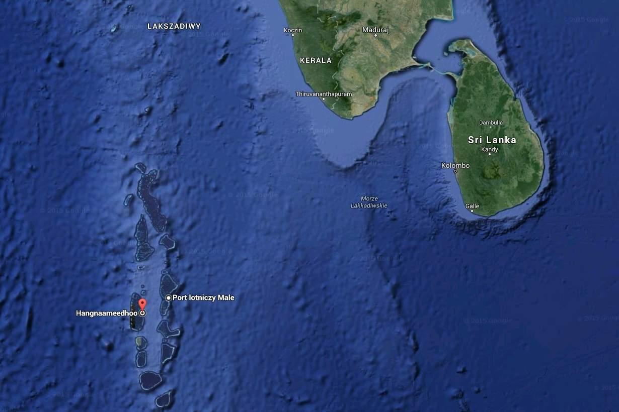 Wyspa Hangnaameedhoo - Srilanka i Malediwy