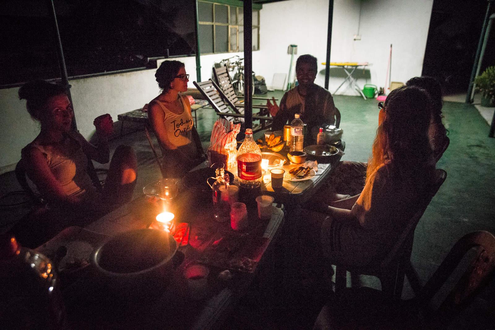 Wieczorna imprezka w Sama