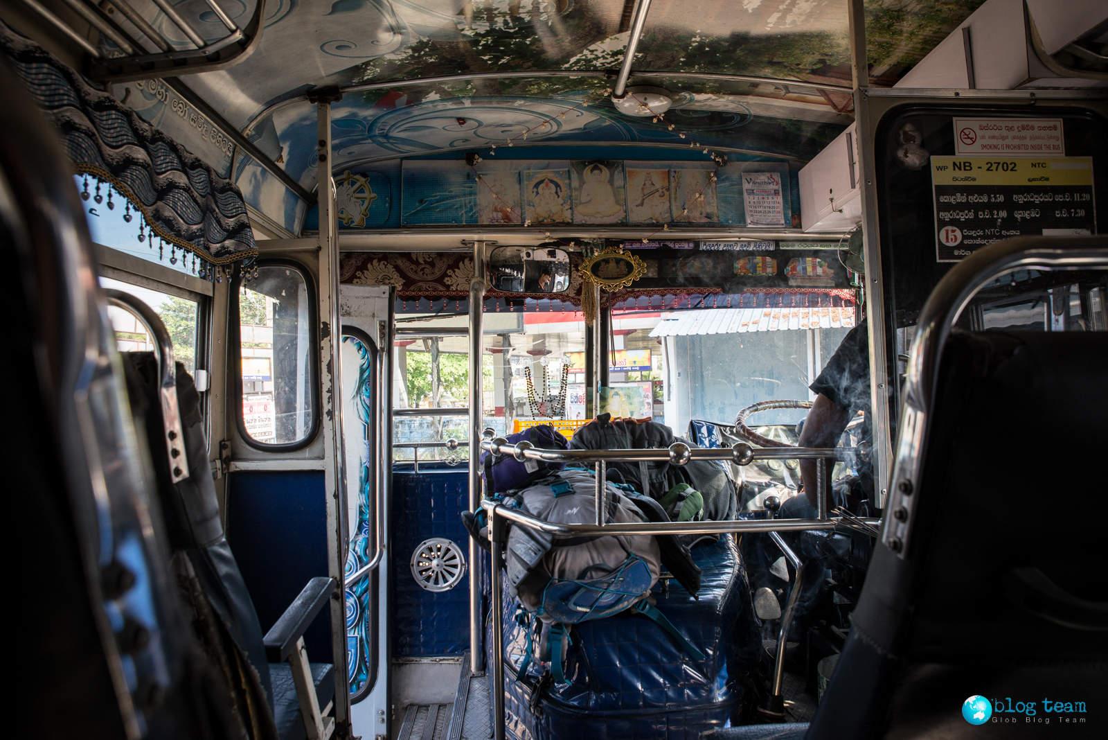 Bagaż w autobusach na Sri Lance