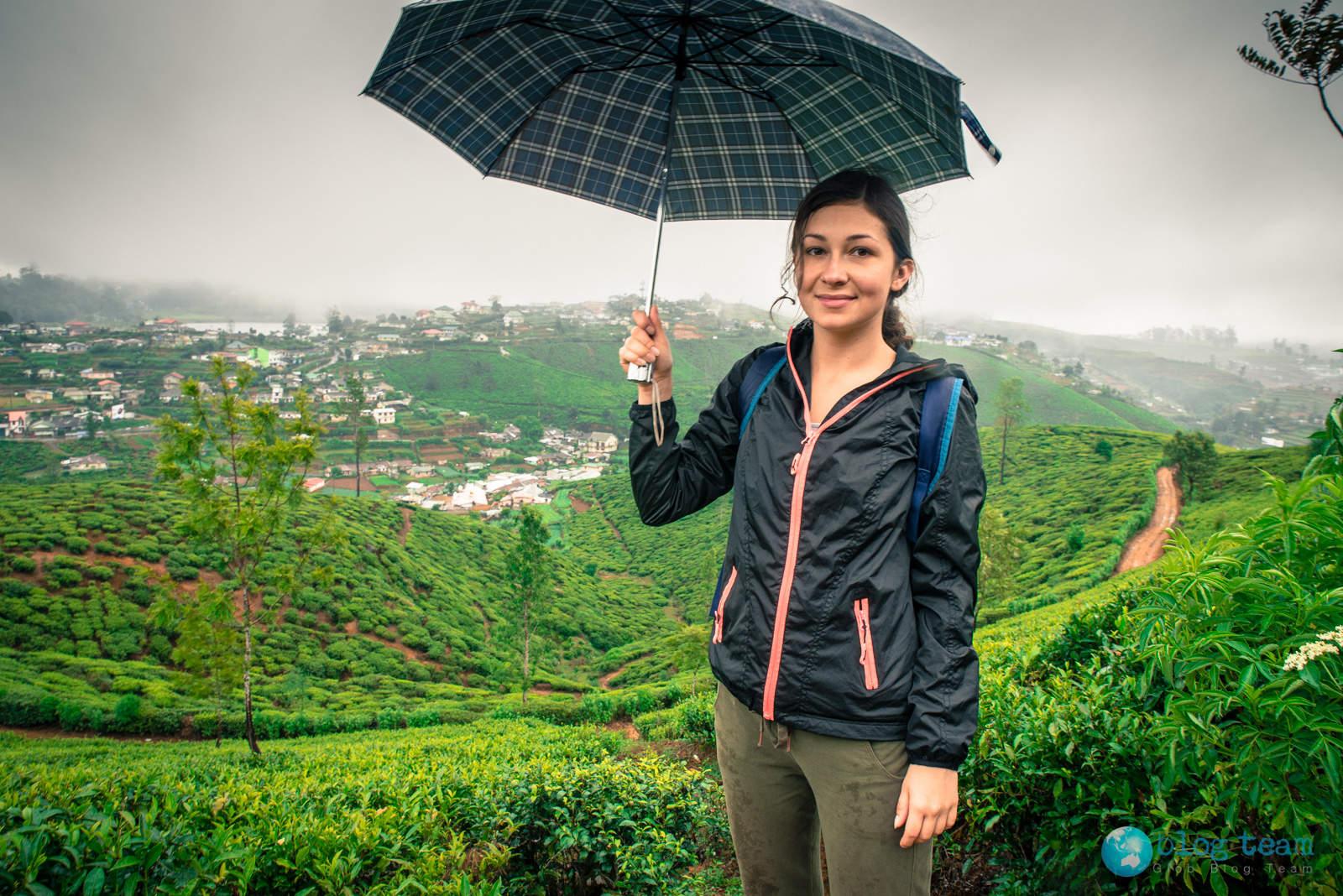 Rain in Nuwara Eliya