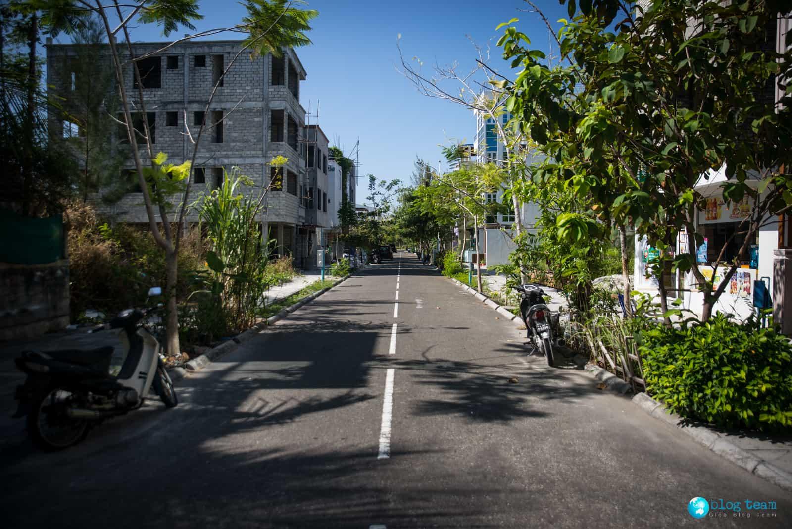 Typowa uliczka na Hulhumale