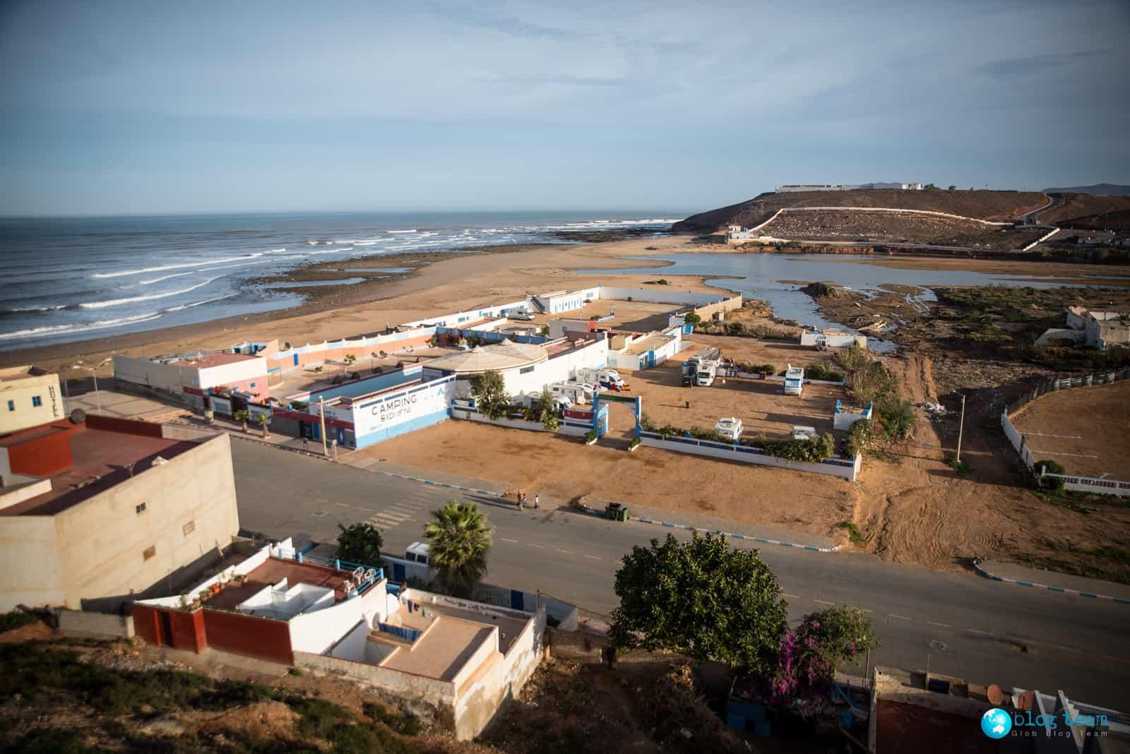 Sidi Ifni - camping przy hotelu Suerte Loca