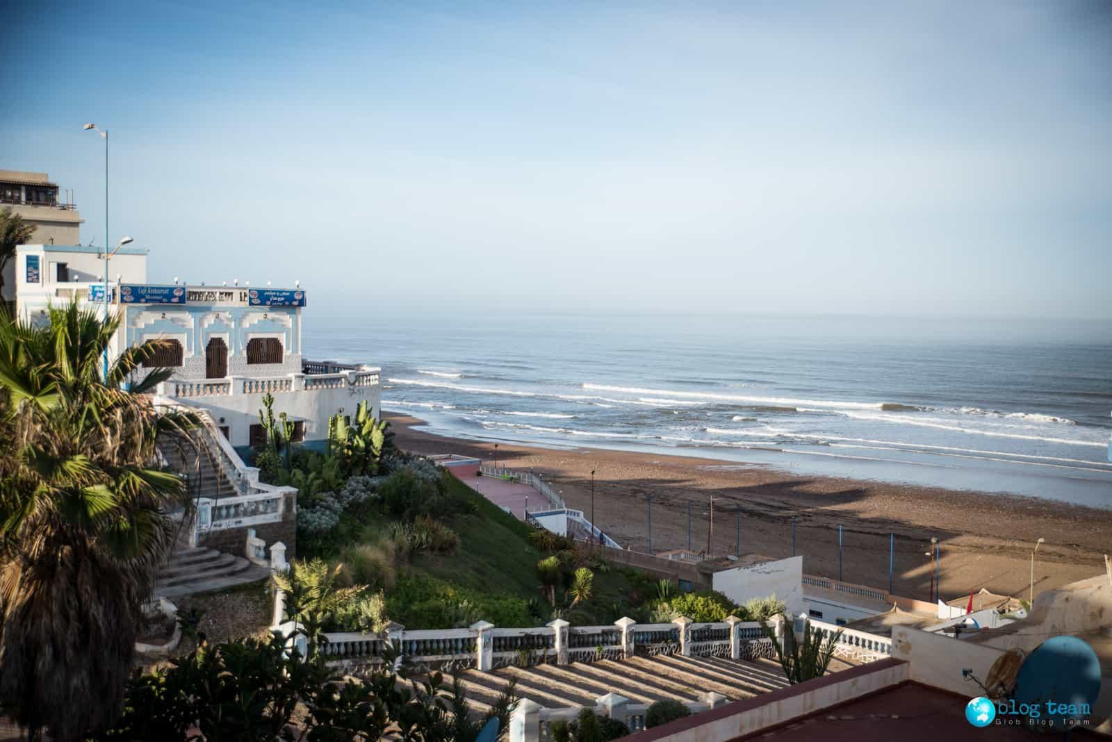 Sidi Ifni - plaża przy hotelu Suerte Loca