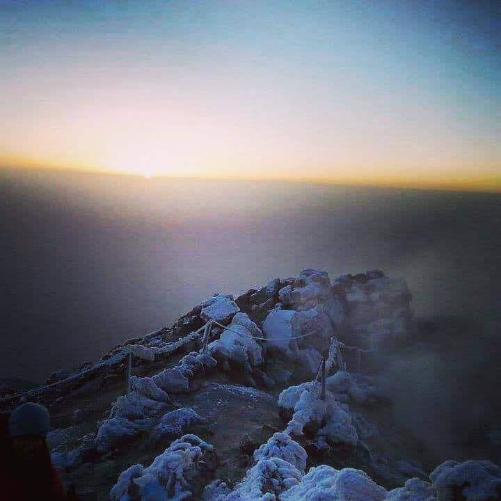Wschód słońca na El Teide, fot. Paweł Wrześniak