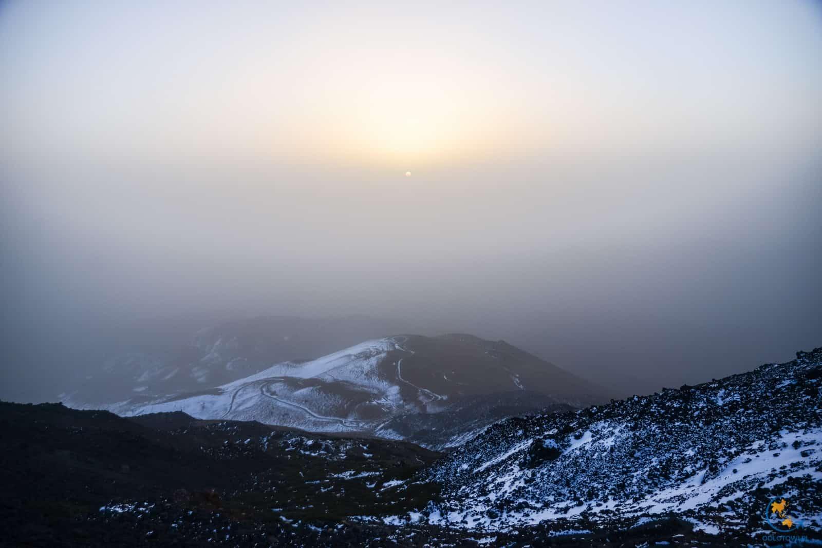 Wulkan El Teide - wschód słońca