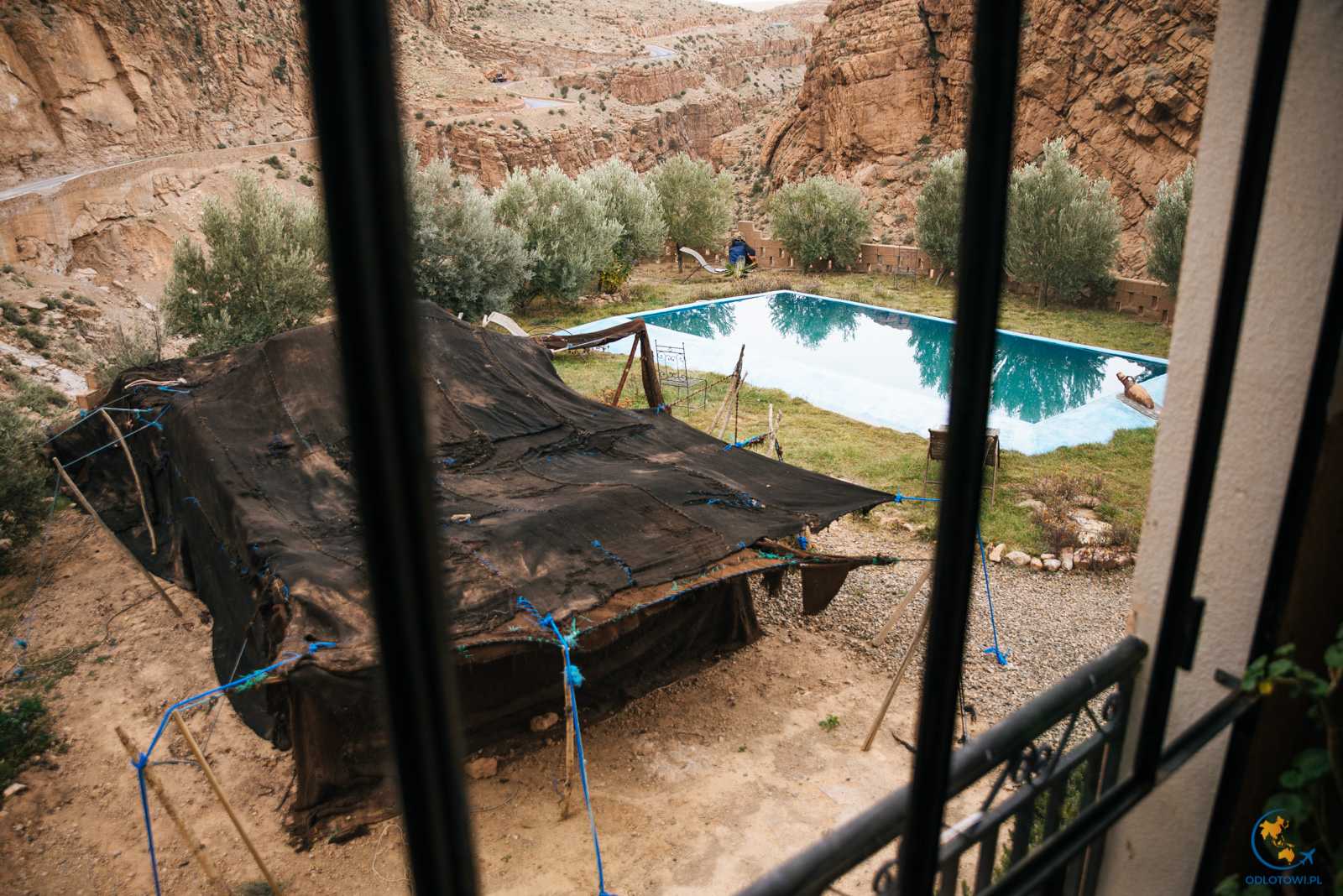 Dades Valley swimming pool | Basen w dolinie Dades - La kasbah de Victor